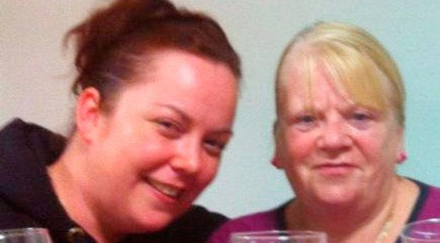 Accident victims Mairead Mundy and her mother Margaret McGonagle