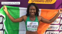 Gina Akpe-Moses is part of the relay team