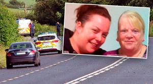 Accident victims pictured (l-r); Mairead Mundy and her mother Margaret McGonagle