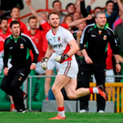Then Mayo selector Tom Prendergast (left) looks on anxiously with manager James Horan (right) as Rob Hennelly's last-gasp '45' to win the 2014 All-Ireland semi-final replay in the Gaelic Grounds drops short Photo: Diarmuid Greene / SPORTSFILE