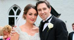 Health Minister Simon Harris pictured with his bride Caoimhe Picture: Frank McGrath