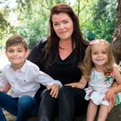 Vanessa Moran with her son Joseph (6) and daughter Charlie Weston Sofia (2). Photo: Tony Gavin