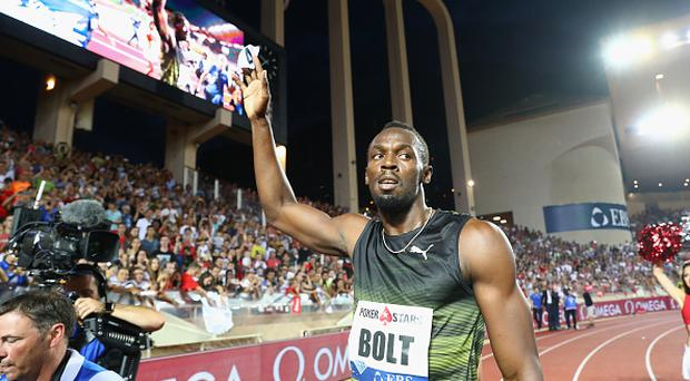 Usain Bolt of Jamaica on his lap of honour after victory in the men's 100m during the IAAF Diamond League Meeting Herculis on July 21, 2017 in Monaco, Monaco. (Photo by Michael Steele/Getty Images)