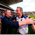 22 July 2017; Tipperary manager Michael Ryan with selector Conor Stakelum following the GAA Hurling All-Ireland Senior Championship Quarter-Final match between Clare and Tipperary at Páirc Uí Chaoimh in Cork. Photo by Stephen McCarthy/Sportsfile