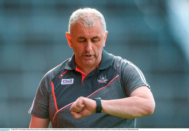 Cork manager Peadar Healy stepped down as Cork boss following defeat to Mayo