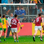 Liam Silke scores Galway's second goal from a penalty at Markievicz Park last night. Photo: Sportsfile