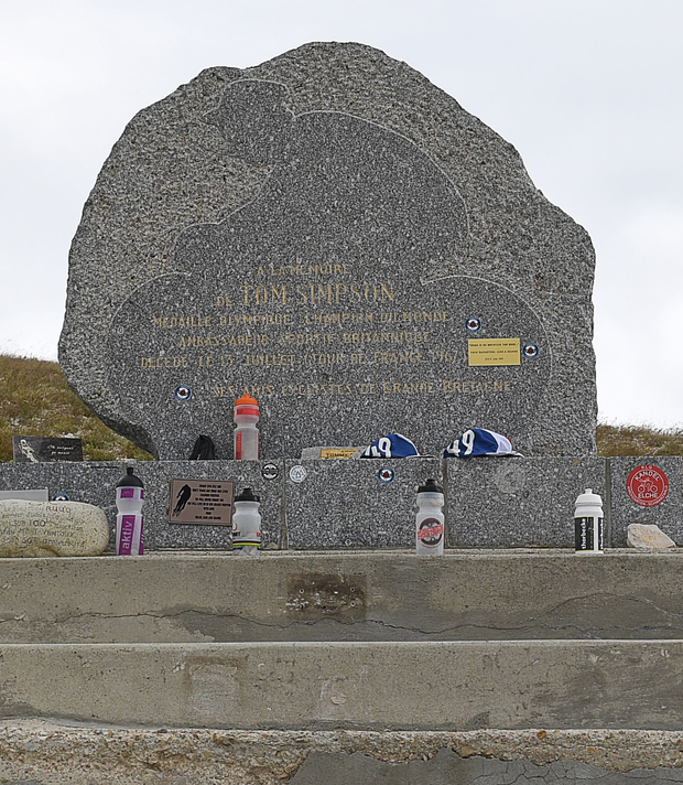 The Simpson memorial on Mont Ventoux .Photo: Getty Images