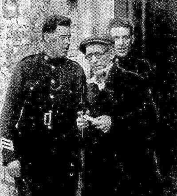 Jimmy on his way to being deported from Cobh in 1933