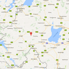 The location where the tragic accident took place in Carrickmore in Tyrone. Image Google Maps