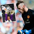 Jose Mourinho says David de Gea is staying at Manchester United and dismissed any talk of Gareth Bale (inset)