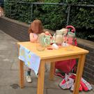 Andre Spicer's photo of his five-year-old daughter's lemonade stand before it was shut down by Tower Hamlets council. She has received dozens of offers to set up stalls at other events. Photo: Andre Spicer/PA Wire
