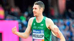 Ireland's Michael McKillop after competing in the Men's 1500m, T37, Final during the 2017 Para Athletics World Championships in London. Photo: Luc Percival/Sportsfile