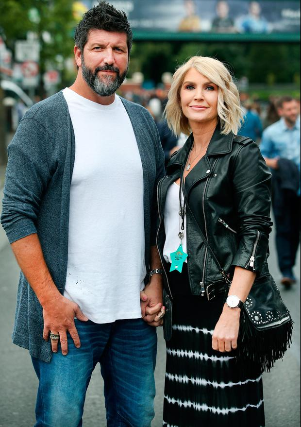 John Conroy and Yvonne Connolly at U2's concert at Croke Park. Picture: Steve Humphreys