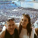 Amy and her dad at U2's gig at Croke Park on Saturday