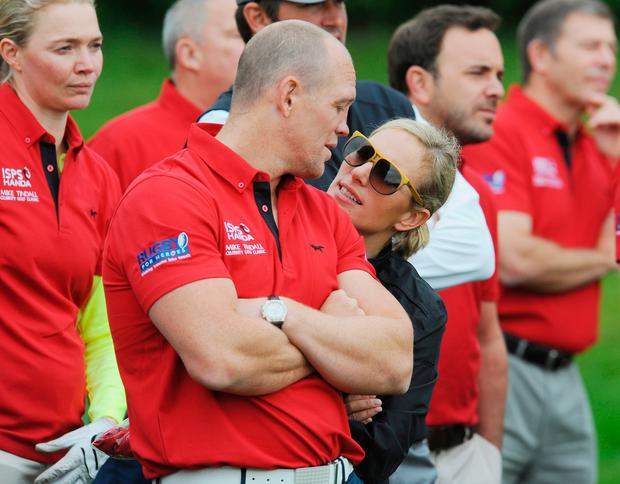 Mike Tindall and Zara Phillips at the ISPS Handa Mike Tindall 3rd annual celebrity golf classic at The Grove Hotel on May 8, 2015 in Hertford, England. (Photo by Eamonn M. McCormack/Getty Images)