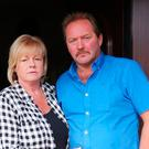 Dean McIlwaine's parents Rodney and Karen at their home in Newtownabbey