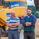 Zurich Farm Insurance Farming Independent Tillage Farmer of Year award winners Tim and Mark Ronaldson on Stonebrook farm near Ballymore Eustace