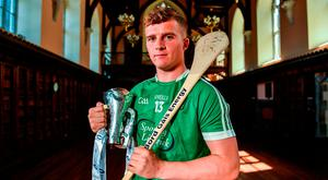 Limerick's Peter Casey in UCC yesterday ahead Bord Gáis Energy Munster U-21 hurling final against Cork tomorrow. Photo by Ramsey Cardy/Sportsfile