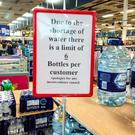 Tesco in Drogheda has applied a 6 bottle limit to its stock of water. Picture: Ciara Wilkinson