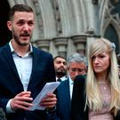 Charlie Gard's parents Chris Gard and Connie Yates speak to the media outside the High Court in London, after they ended their legal fight over treatment for the terminally ill baby. Photo: PA