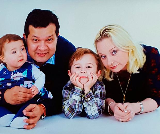 Eileen Langan Rizvi and Syed Rizvi pictured with daughter Maya (19 months) and their son Rayan (4)