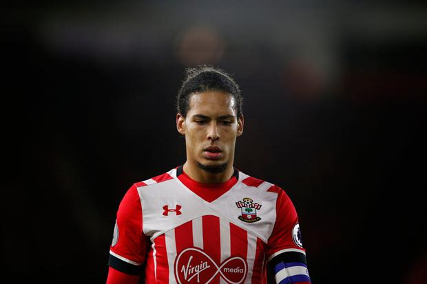 Van Dijk has been banished to train on his own. Photo credit: Getty Images