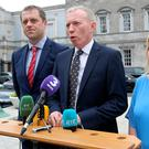 Fianna Fáil's Communications spokesman, Timmy Dooley (centre), said RTÉ needs to 'clarify its policy on pay equality and provide in-depth oversight'. Photo: Tom Burke