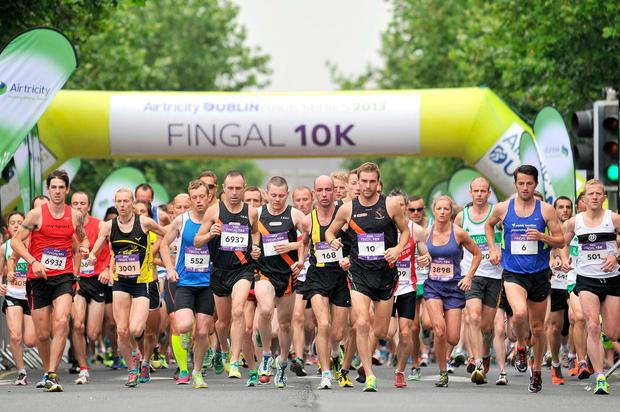 Stepping stone: the Fingal 10K is a great way to build up to the Dublin marathon. Photo: Donal Glackin.