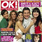 Aljaz Skorjanec and Janette Manrara pose with Strictly co-stars Frankie Bridge, Louise Redknapp and Daisy Lowe for OK! Magazine
