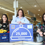 (L to R) Iseult Ward, FoodCloud Co-Founder and CEO; Ciara Hosford, Aldi Main Street Ballincollig store Deputy Manager and Charity Champion and Aoibheann O'Brien, FoodCloud Co-Founder and CEO of FoodCloud Hubs Credit: Leon Farrell of Photocall Ireland.