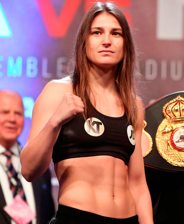 Irish boxer Katie Taylor. Photo by Lawrence Lustig/Sportsfile
