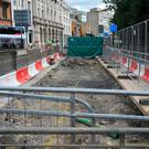 The closures are part of the final push to complete ongoing Luas works. Photo: Gareth Chaney, Collins