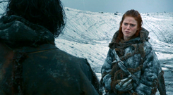 Wildling Ygritte portrayed by Rose Leslie in 'Game of Thrones'