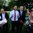 Minister for Housing, Planning and Local Government , Eoghan Murphy, speaks during a visit to Stameen Estate, Drogheda. Photo: Colin Keegan, Collins Dublin