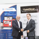 Anthony Tattan of IP Telecom and Liam Tracey of GoldStar Telecom