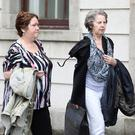 Olive and Ann Cunningham both from Galway pictured leaving the Four Courts yesterday(Wed) after the opening day of a High Court action taken by Kathleen McNicholas.Pic: Collins Courts