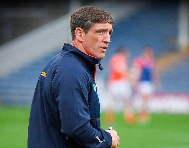 Armagh manager Kieran McGeeney at the All-Ireland SFC Round 3B match against Tipperary at Semple Stadium in Thurles two weeks ago. Photo by Ray McManus/Sportsfile
