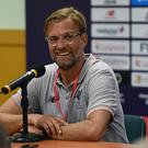 Jurgen Klopp manager of Liverpool during a press conference after the Premier League Asia Trophy match between Liverpool FC and Crystal Palace on July 19, 2017 in Hong Kong Stadium, Hong Kong. (Photo by John Powell/Liverpool FC via Getty Images)