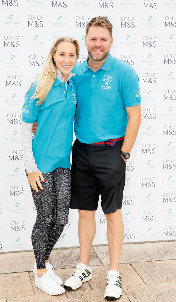 Danielle Parkinson and Brian McFadden at the 2017 Marks & Spencer Ireland Marie Keating Foundation Celebrity Golf Classic at the K Club. Picture: Kieran Harnett