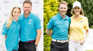 (L to R) Danielle Parksinson and Brian McFadden, Ronan and Storm Keating