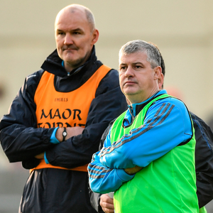 Roscommon boss Kevin McStay (r) with his No 2 Liam McHale. Photo: Sportsfile