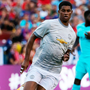 Manchester United striker Marcus Rashford is pictured during the friendly clash with Barcelona. Photo: Reuters