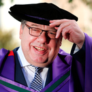 Former Taoiseach Brian Cowen pictured in Dublin Castle where he was conferred with the honorary degree Doctor of Laws from The National University of Ireland. Picture: Gerry Mooney