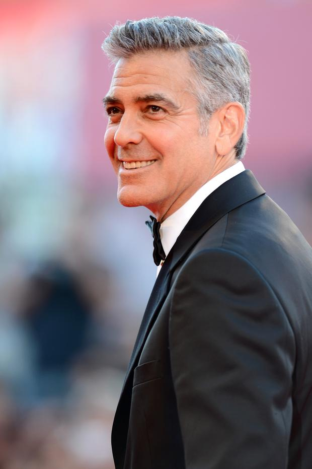 Actor George Clooney attends the Opening Ceremony And 'Gravity' Premiere during the 70th Venice International Film Festival at the Palazzo del Cinema on August 28, 2013 in Venice, Italy. (Photo by Ian Gavan/Getty Images)