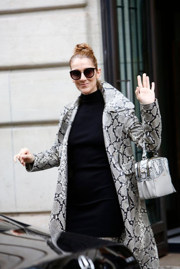 Celine Dion leaves her hotel in Paris, France, on July 27, 2017. (Photo by Mehdi Taamallah/NurPhoto via Getty Images)