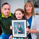Kellie's brother Conor McConville, her daughter Mia Madden (6) and sister Allison Hunt