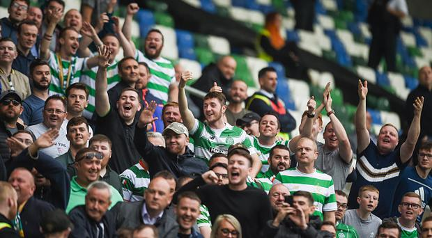 Celtic fined over 'illicit banner' and 'blocked stairs' against Linfield