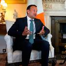 Leo Varadkar meeting Theresa May in June. Photo: PA