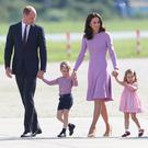 Prince William, Duke of Cambridge, Catherine, Duchess of Cambridge, Prince George of Cambridge and Princess Charlotte of Cambridge view helicopter models H145 and H135 before departing from Hamburg airport on the last day of their official visit to Poland and Germany on July 21, 2017 in Hamburg, Germany. (Photo by Chris Jackson/Getty Images)