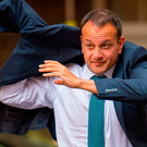 Questions: Leo Varadkar was on 'Tonight with Vincent Browne'. Photo: PA